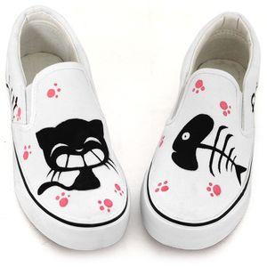 Bu Dingchun pintado a mano lienzo mujeres zapatos debajo de bangtao pies zapatos moda casual zapatos deportivos zapatos de la onda