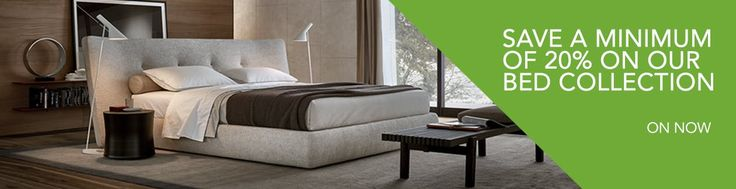 SAVE a minimum of 20% on our bed collection until Sunday 23 April 2017. Designer beds with luxurious details.