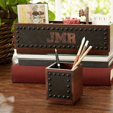 I love the Rustic Desk Accessories on pbteen.com