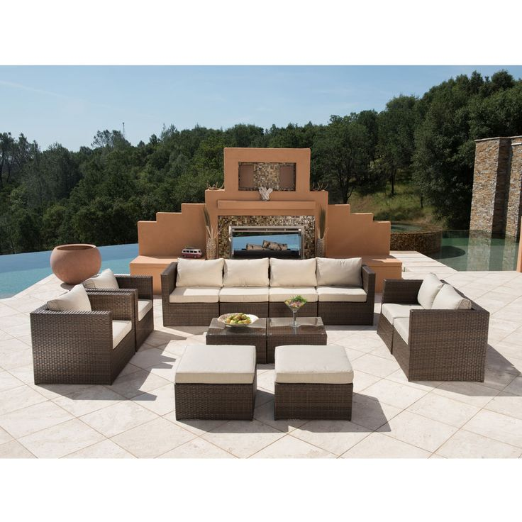 SUPERNOVA 12PC Outdoor Rattan Wicker Sofa Sectional Patio Garden Furniture  Set