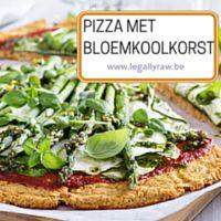 Pizza met bloemkoolkorst