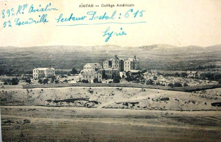 1911 Antep Amerikan Koleji ve Misyonerlik Merkezi.1919-1921 arasında Antebin Fransız işgali sırasında Fransız Karargahı,deposu olarak kullanılmıştır.