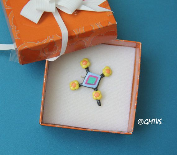 Huichol Cross -Polymer Clay Charms