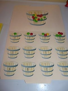 """Counting Apples"" math center idea"