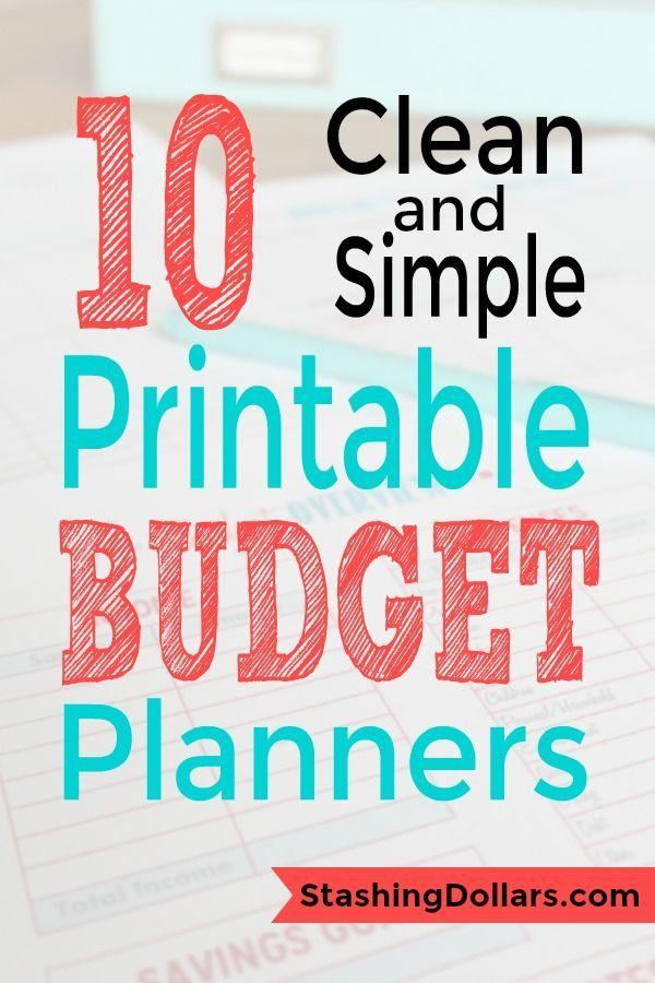 Free Printable Budget Planners Budgeting Budgeting Budget