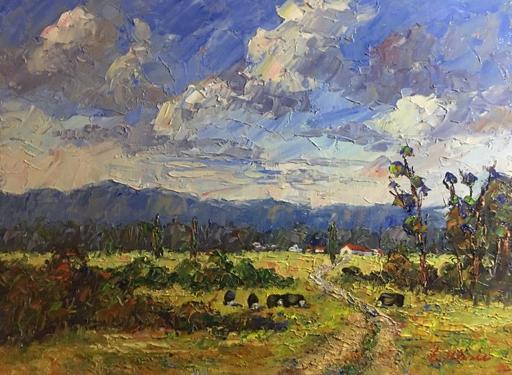 Enoch Hlisic - Original Oil Painting - View of Dandenong Ranges