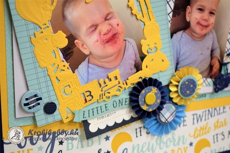 Huncut kis Maszat Marci Egyszerűen Imádom!  A család legkisebb Manója, akinek a huncut kis mosolya egy újabb scrapbook oldal elkészítésére inspirált.
