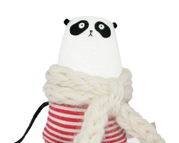 Panda Miniature Bear Tiny Panda Teddy Bear Stuffed Toy by poosac