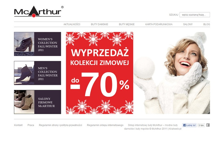 McArthur - shoes e-commerce webdesign « Krakweb.pl »