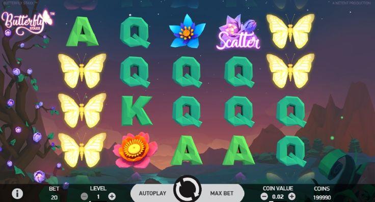 Mnoho motýlů s překvapivými odměnami vám přináší automat Butterfly Staxx od tvůrců NetEnt.  #vyhra #jackpot #vyherniautomat