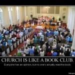 Church is like a book club: Book Club
