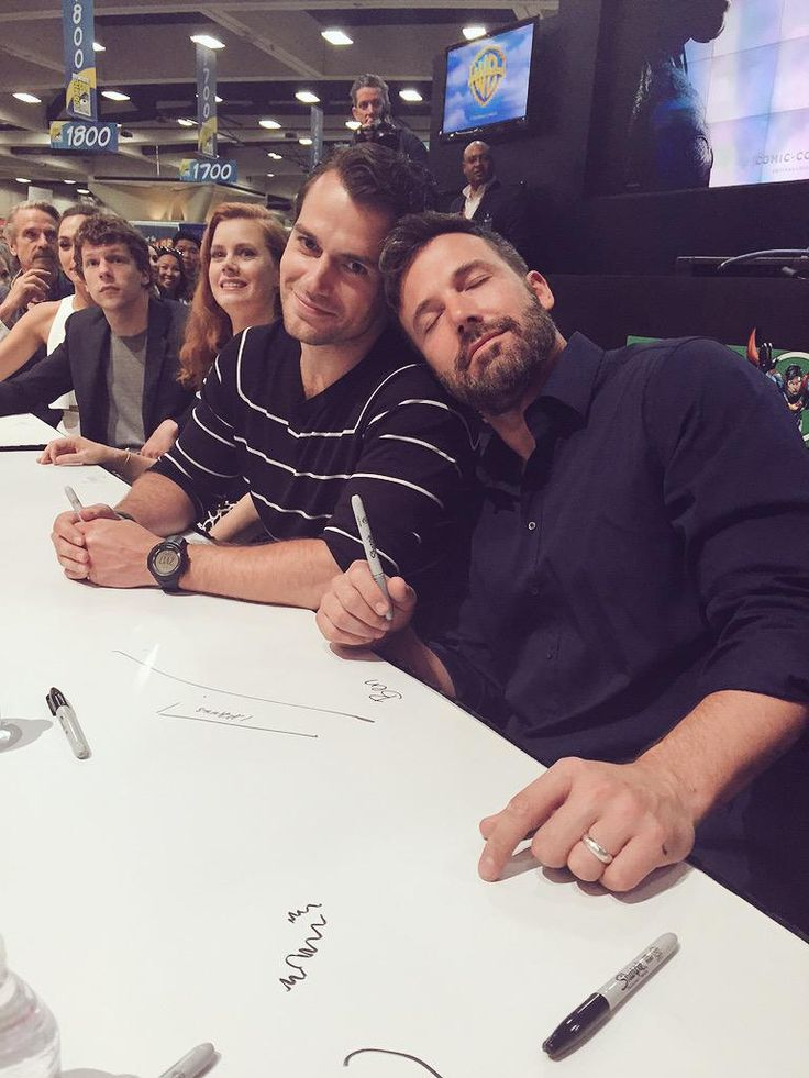 Ben Affleck and Henry Cavill - Batman v Superman - SDCC 2015