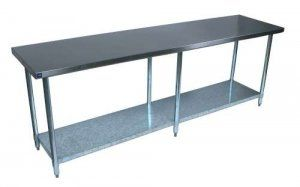 Commercial Stainless Steel Work Prep Table 24 x 96 NSF Certified