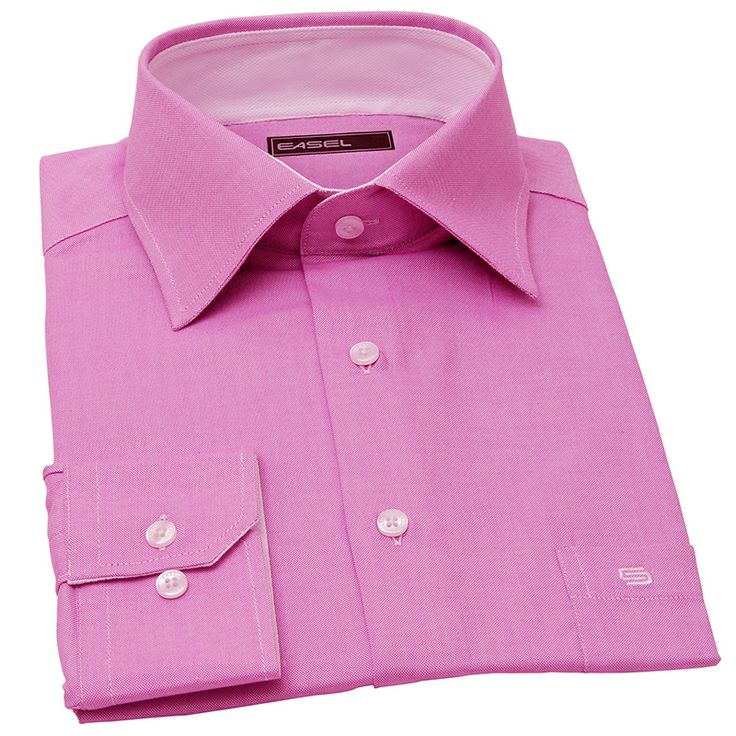 SOME LIKE IT HOT-flamingo pink oxford shirt
