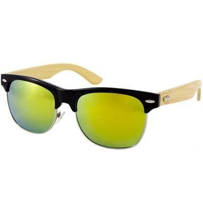 Ξύλινα Γυαλιά Ηλίου Bamboo Clubmaster Premier-YELLOW-e-chap