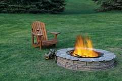 Build Your Own Backyard Fire Pit: Fire Pits, Adirondack Chairs, Idea, Backyard Bbq, Outdoor Fire Pit, Backyard Fire Pit, Fire Pit Design, Firepit, Back Yard