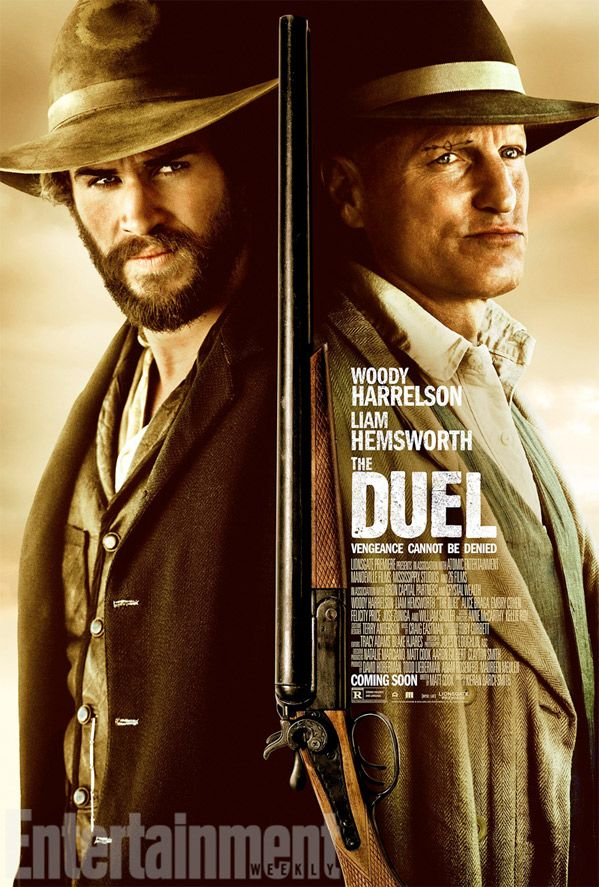 """Watch: First Trailer for Kieran Darcy-Smith's New Western 'The Duel'  """"You have no idea what's going on here!""""  Lionsgate Premiere has debuted a trailer for a film called   The Duel  , formerly known as  By Way of Helena , a western about a Texas Ranger who takes on an oppressive, violent preacher watching over a town.  Liam Hemsworth  plays the Ranger, and  Woody Harrelson  plays the evil pastor, and the two end up in a kind of standoff in this small town. The full cast includes  Em.."""