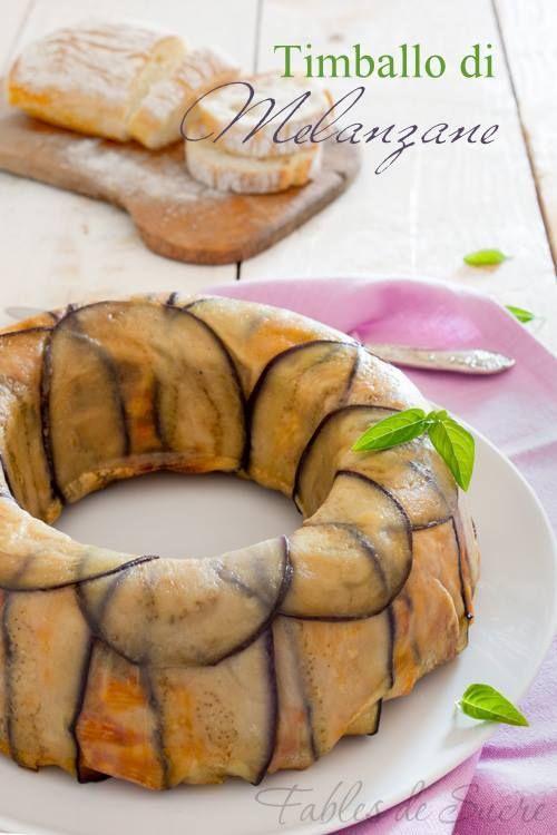 Timballo di melanzane, un'idea carina e gustosa per portare sulla vostra tavola un primo piatto saporito e colorato che non sia la solita pasta al forno.