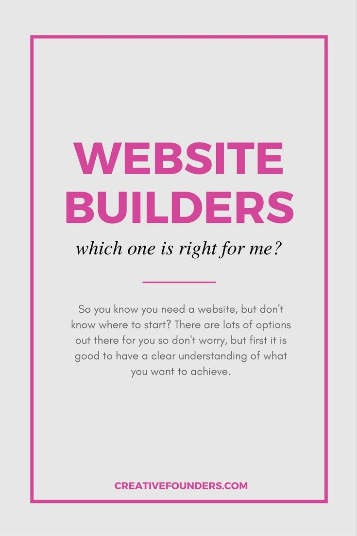 Website Builders. Trying to figure out which platform is the best to build your website or blog?