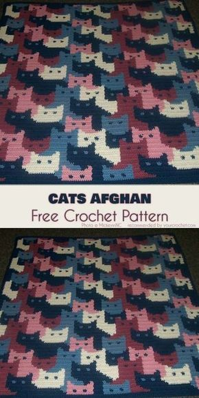 Cats Afghan Free Crochet Pattern