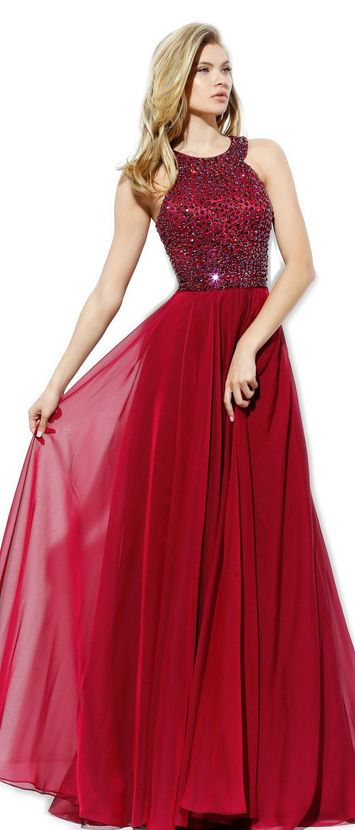Halter Long Prom Dress Crystal Chiffon Formal Gown 2017 New Prom Gown #macloth #prom2017 #prom #wedding #formaldress #formalgown