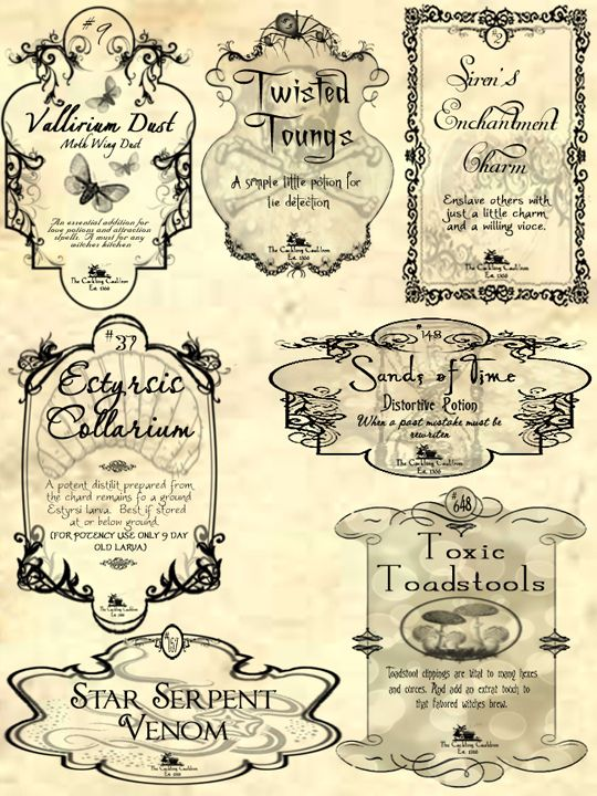 Crazy image for harry potter apothecary labels free printable