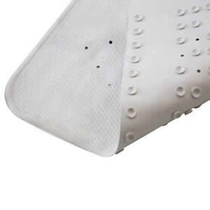 Rubber Bath & Shower Mat in Plain White 54.5cm x 54.5cm.