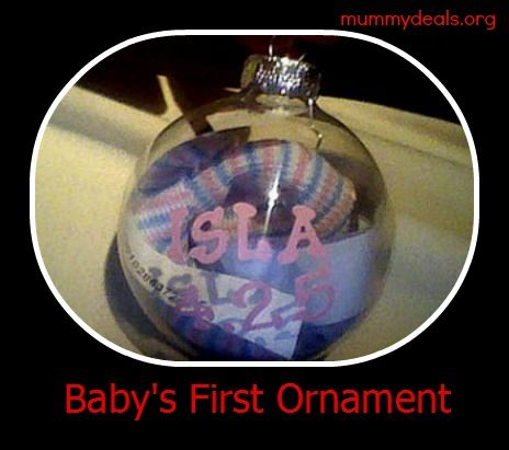 Make Baby's first ornament yourself and give as a unique homemade gift. #homemadechristmas #babyornament