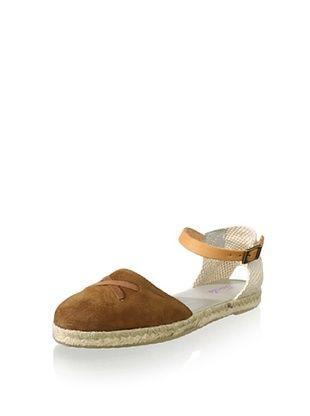 53% OFF Gorila Kid's Ankle-Strap Espadrille (Brown/Beige)