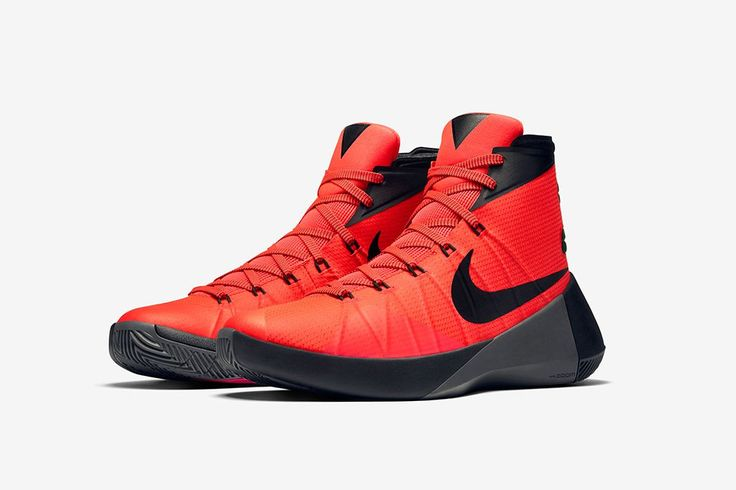 buy popular 81d26 9fe3c ... closeout nike hyperdunk 2015 high top sneaker in black and red. 60590  1fd3a
