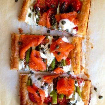 Asparagus, Tomato and Smoked Salmon Tart