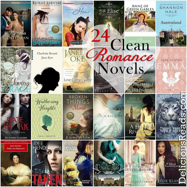 24 Clean Romance Novels that will still get your heart racing! /Delicious Reads