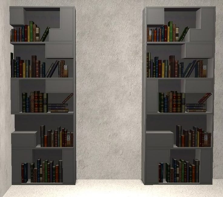 TheNinthWaveSims: The Sims 2 - Modular The Sims 3 Town Life Stuff Bookshelf for The Sims 2