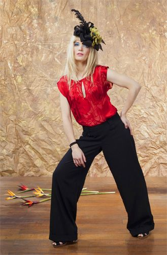 Scarlet Macaw Blouse and Glossy Ibis Pants