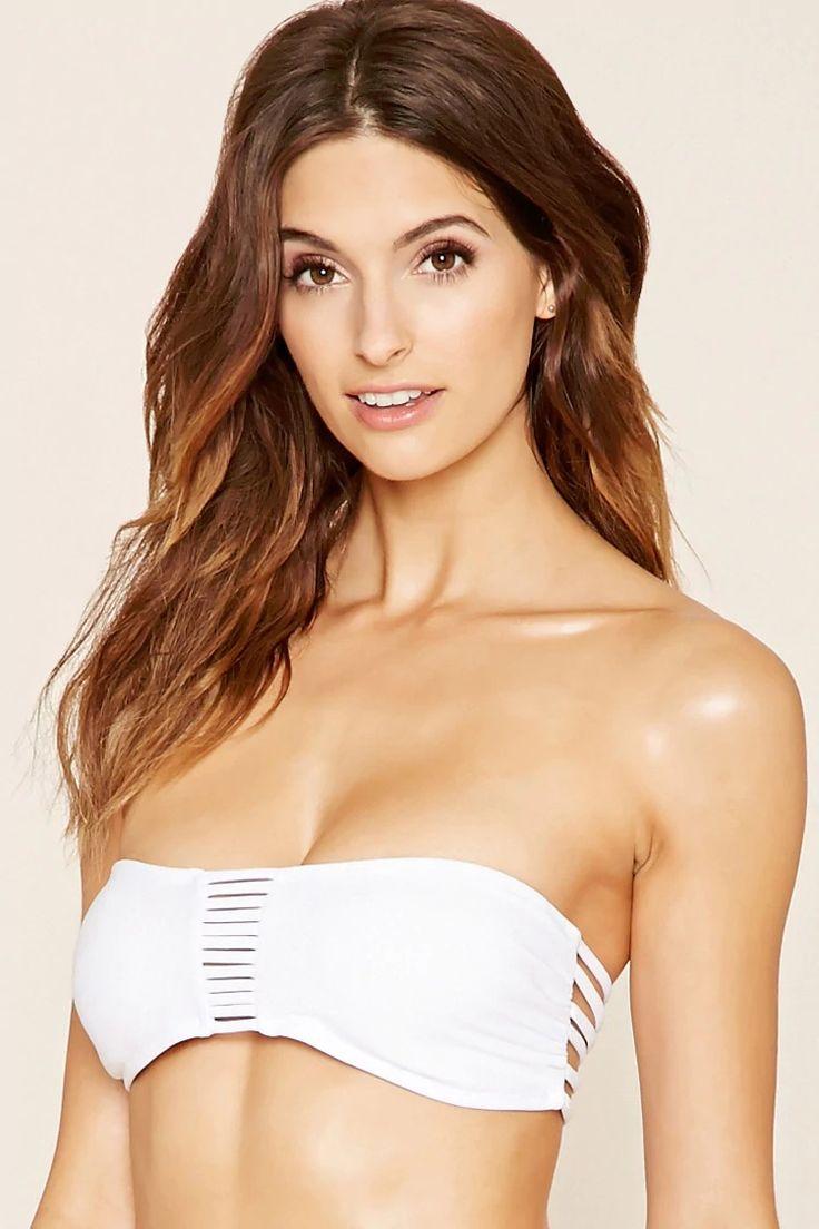 white bandeau bikini #letscelebrate | forever 21