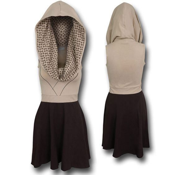 Star Wars Jedi Cowl Dress<< I've never wanted a dress this badly. Of course, I would wear jeans or Star Wars printed leggings with it