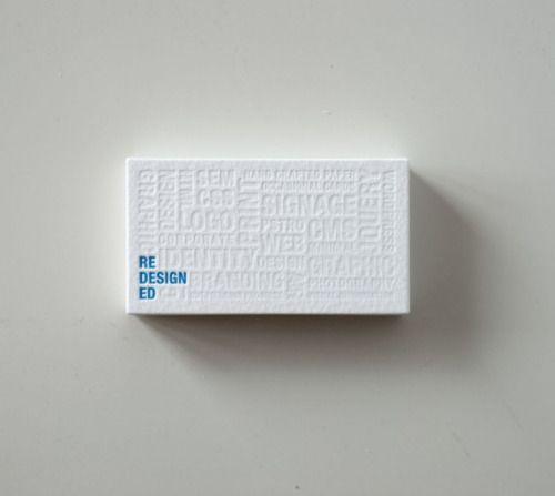 Pretty letterpress business card.