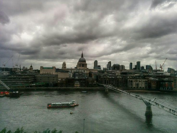 Skyline di Londra, visto dal sesto piano del Tate Modern