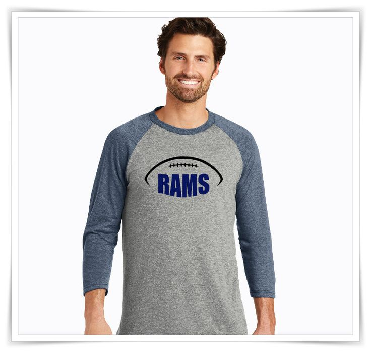 Football Shirt | Los Angeles Rams | LA Rams Shirt | Rams |  Football Team | Mascot Football | Mens 3/4-Sleeve Raglan Shirt by AtanerBoutique on Etsy