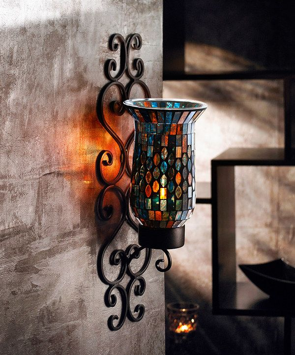 Look at this Rhombus Mosaic Wall Sconce on #zulily today!