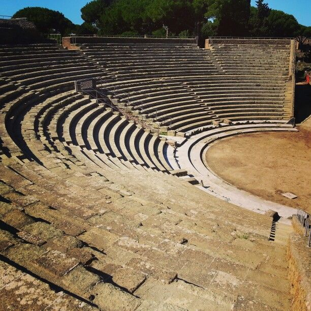 Roman theatre at Ostia, italy
