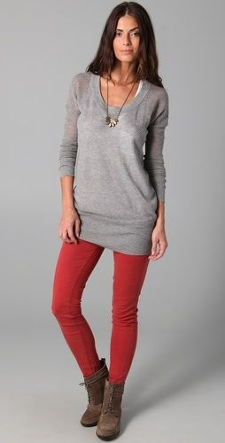 colored leggings with boots and gray.
