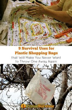 9 Survival Uses for Plastic Shopping Bags that Will Make You Never Want to Throw One Away Again