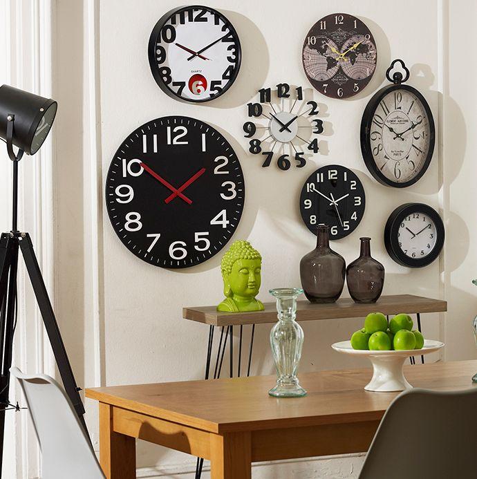 ¡Atrévete a salir de lo común! Rompe esquemas con tu #decoración ;) #DecomuroFuror #Reloj #Relojes #Muro #Decomuro #Lámpara #Comedor