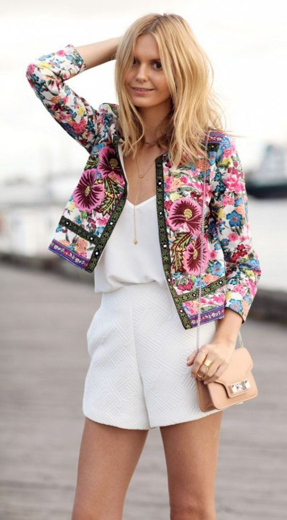 statement floral blazer | casual outfits