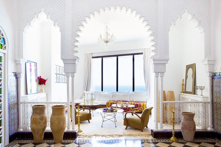 This Coastal Home is A Moroccan DreamBohemian Interiors Morrocan, Dining Room, Moroccan Interiors, Arches Design Moroccan, Interiors Design, Living Room, Architecture, Moroccan Inspiration, Dreams Canvas