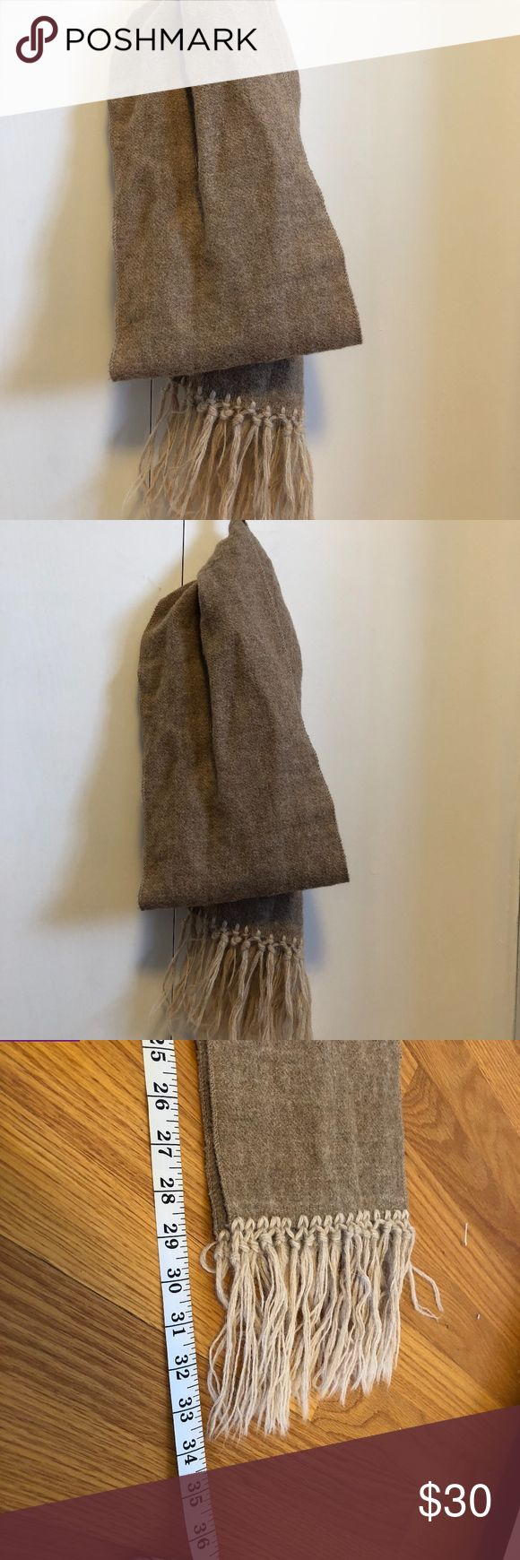 Vintage Alpaca Scarf Khaki alpaca scarf in very good vintage condition. Very warm, great for a work outfit. Length measurement is taken with scarf folded in half. Open to offers. Accessories Scarves & Wraps