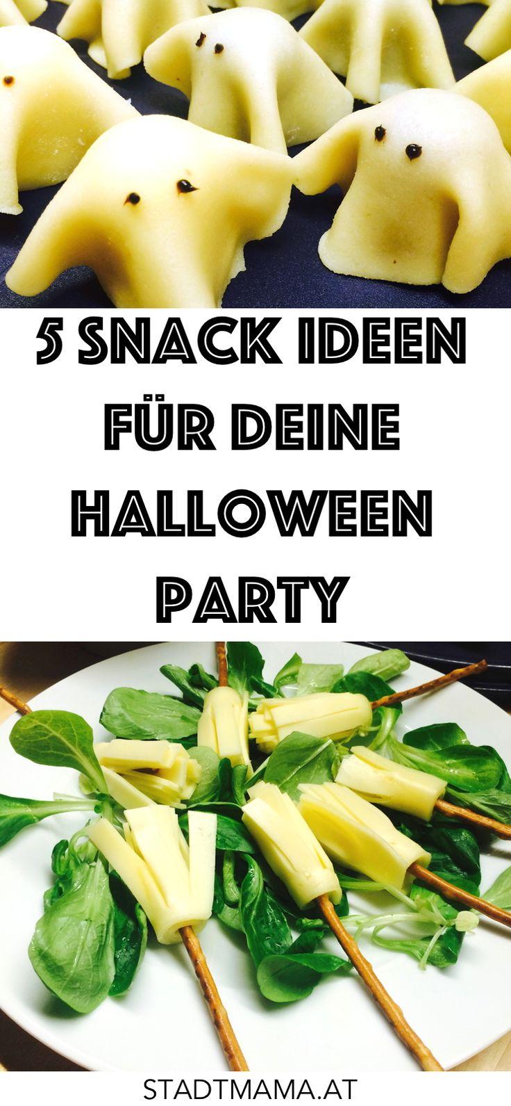 5 simple Snack Ideen für deine Halloween Party inklusive Rezept und Anleitung.
