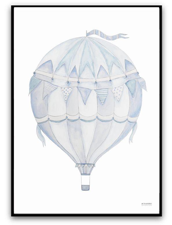 Blue air balloon | AVANNI