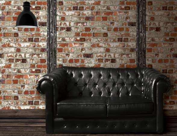Faux brick wallpaper from the Just Like It collection.  #brick #faux #wallpaper